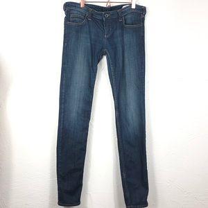 Armani Jeans slim fit zip pocket light distress 29